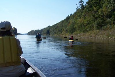 Kayaking on the Kennebec with the Conservation Commission. Photo contributed by Mary Ellen Johnston.